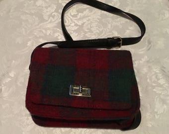 Vintage 1980s Rare Harris Tweed Handbag