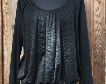 Longsleeve top made of viscous fine knit