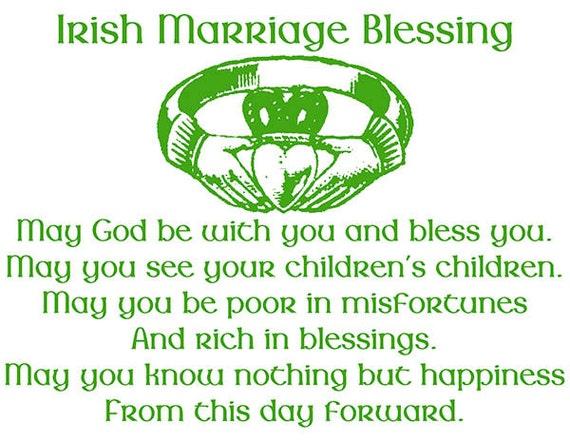 Irish Wedding Blessing Wedding Candle Wedding gift Irish