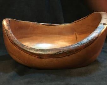 Hand turned eucalyptus wood bowl