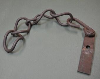 Rusted Chain Links, Vintage Chain, Garden Art, Industrial Steampunk,  #263