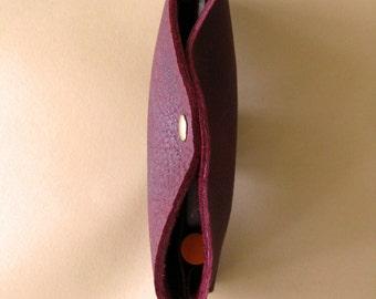 Pocketbook wallet - Port red leather