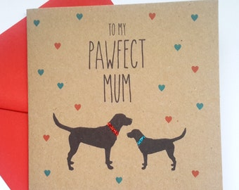 Black Labrador Mother's Day Card - To my Pawfect Mum