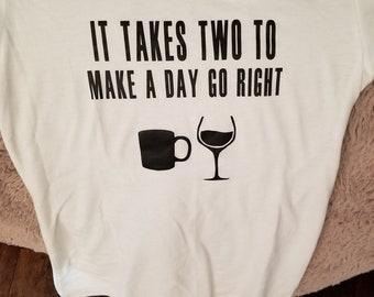 Wine & Coffee T Shirt