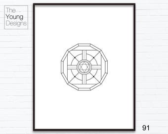 Geometry Shapes and Lines, Abstract printable art, gift ideas, home decoration wall art, digital download, print at home, 91-100