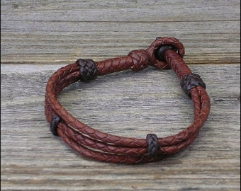12 Strand Braid Leather Bracelet