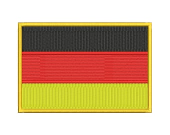 Germany Flag Embroidery Design - 6 SIZES