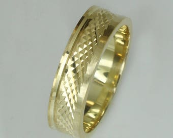 gold-plated silver wedding rings 925 6mm