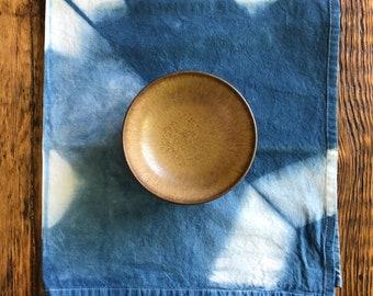 Shibori Indigo Tea Towel, Kitchen Towel, Hand Dyed