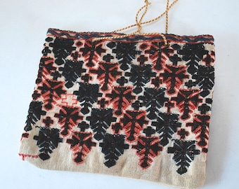 Vintage Greek Embroidered Purse
