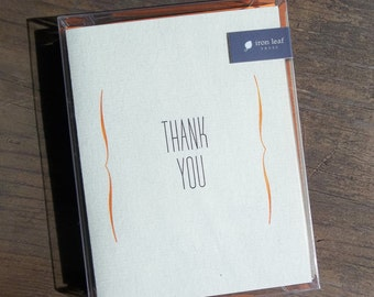 Thank You Letterpress Greeting Cards Set of 6