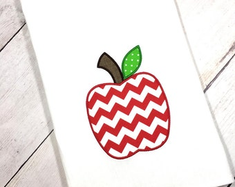 Flour Sack Apple Towel, Foodie Hostess Gift, Apple Home Decor, Apple Kitchen Decor, Modern Farmhouse, Gift For Teacher, Farmhouse Style