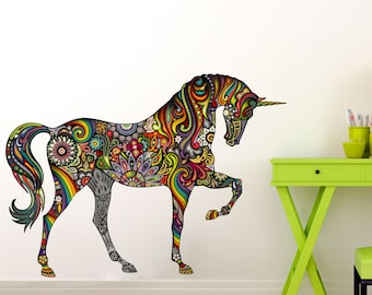 Rainbow Unicorn Wall Decal
