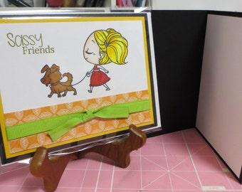 Sassy friends greeting card
