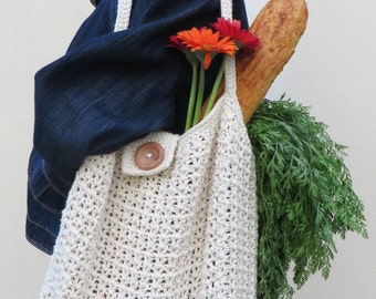 Treble Shopping Bag Crochet Pattern