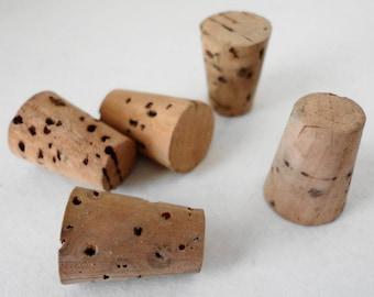 Vintage 1940s Corks for Toy Popguns Lot of 5 Replacement Parts Geniune Ammunition for Toy Gun Pop Gun Cork Gun Children's Toys New Old Stock