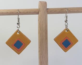 Leather earrings, earrings leather, offer, cheap earrings, free shipping, offer, sale, cheap earrings, discount, original