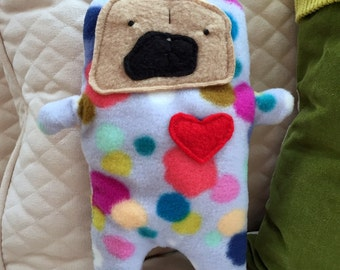 Annie ~ The Pug-Jama Party Bummlie ~ Stuffing Free Dog Toy - Ready To Ship Today