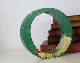 Vintage Wooden Letter O