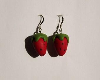 Pair of Strawberry earrings