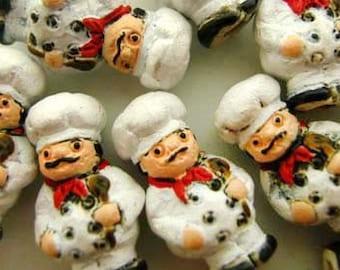 10 Tiny Chef Beads