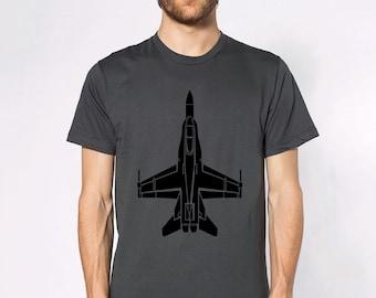 KillerBeeMoto: McDonnell Douglas F/A-18 Hornet Short Or Long Sleeve T-Shirt