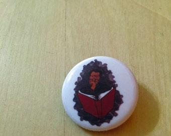 Octavia E. Butler pinback button