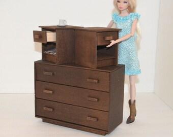 1/6 scale dresser_doll furniture_Blythe_Momoko_Fashion Royalty_BJD_Pullip_dollhouse furniture_ diorama dresser_bedroom furniture