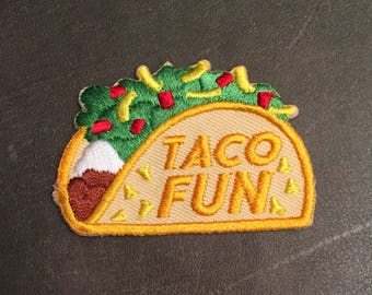 Taco Fun Merit Badge Mexican Food Patch