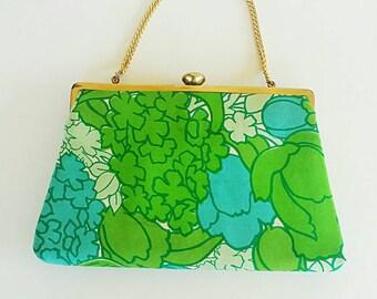 Vintage Coblentz Colorful Lily Inspired 60's Handbag