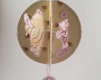 Winnie the Pooh Ornament - LIMITED EDITION - Making a Dandelion Wish