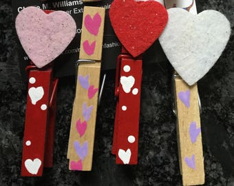Valentine's Day PinPals clothes pins gift topper, chip clip, photohangre, baby shower