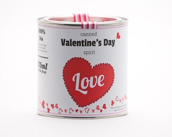 Original Canned Valentine's Day Spirit, gag souvenir, gift, memorabilia
