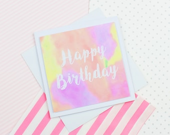 Cute Handmade Birthday Card | Pastel Birthday Card | Handmade Card | Cute Card | Greeting Card | Fun Card |