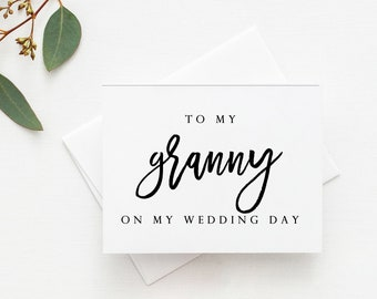 Granny Wedding Card. Wedding Card For Granny. Granny Card. To My Granny Card. To My Granny On My Wedding Day Card. Granny Of The Bride.