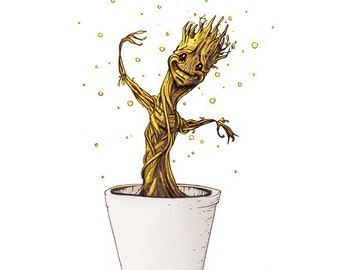 Baby Groot Guardians of the Galaxy - Art Print
