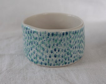 Ceramic Espresso Cup / Stoneware Cup/ Small Snack Bowl / Hand Painted Cup / Blue and Green Design