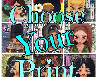 Choose Your Print- 6x6 Inch or 12x12 Inch Print Size