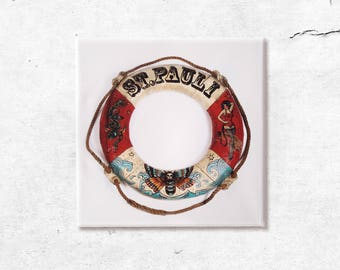 St. Pauli rescue ring, canvas print