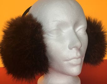 Real Fur Earmuffs | Headphones | Soft Ear Warmer |  Warm accessories |