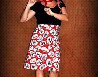 Retro Rodeo Cowgirl Skirt