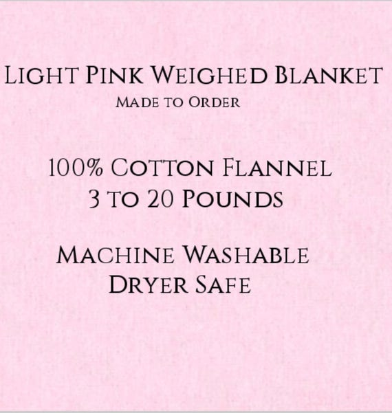 Solid Color, Weighted Blanket, Light Pink, Up to Twin Size 3 to 20 Pounds.  Calming, Heavy Blanket, SPD, Autism, Weighted Blanket.