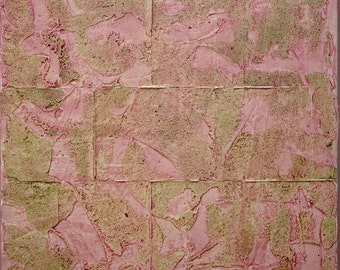 Small Abstract Acrylic Painting Textured Painting Pink Painting Modern Art Contemporary Art Mixed Media