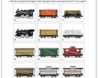 Train Art, Train Decor, Train Art Prints for Boys Bedding Wall Decor, Transportation Art, Boys Room Decor, Nursery Art-Pick your set size