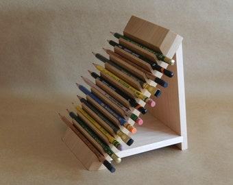 Pencil Display Rack & Wood Plate Rack for Vertical Plate Storage