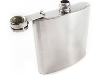 Crafter's Secret Stainless Steel Chrome Hobby Hip Project Flask 6oz