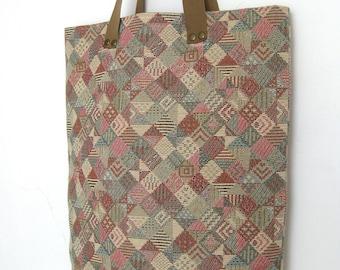 Handmade jacquard bag - Handmade tote bag - Handmade fabric tote bag - Tote bag for every day