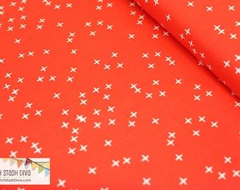 Tomato Winks From Birch Organic Fabric's Mod Basics 3 Collection