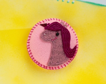 Pink unicorn magnet - gift for unicorn lovers