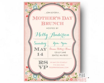 Mothers Day Brunch Invitation - Printable Mothers Day Invitation - Mothers Day Luncheon Invites - Mother Day Lunch - Mothers Day Invite